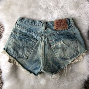 Levi's 501 Distressed High-Waisted Cutoff Shorts